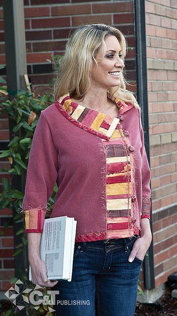 Sewing Sweatshirt Jackets | Sweatshirt Transformations | Flickr - Photo Sharing!
