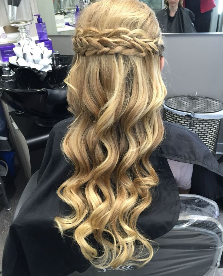 Curly Halfup Braid For Graduation  Hair Styles And Updos  Hair