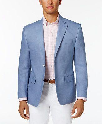 Lauren Ralph Lauren Men's Classic-Fit Ultra-Flex Solid Linen Sport Coat - Linen Blazer - SLP - Macy's
