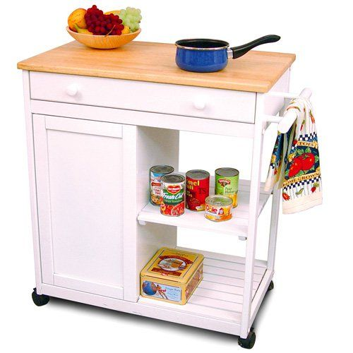 Knotting Hill Kitchen Cart - What We Like About This Kitchen CartForm and function combine in the Knotting Hill Kitchen Cart. This kitchen cart is made of a fine hardwood. Dimensions: 30W x 17.25D x 34H inches - $166.98