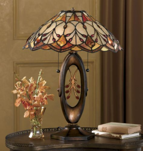 Golden stained glass table lamp from midnight velvet the first thing youll notice