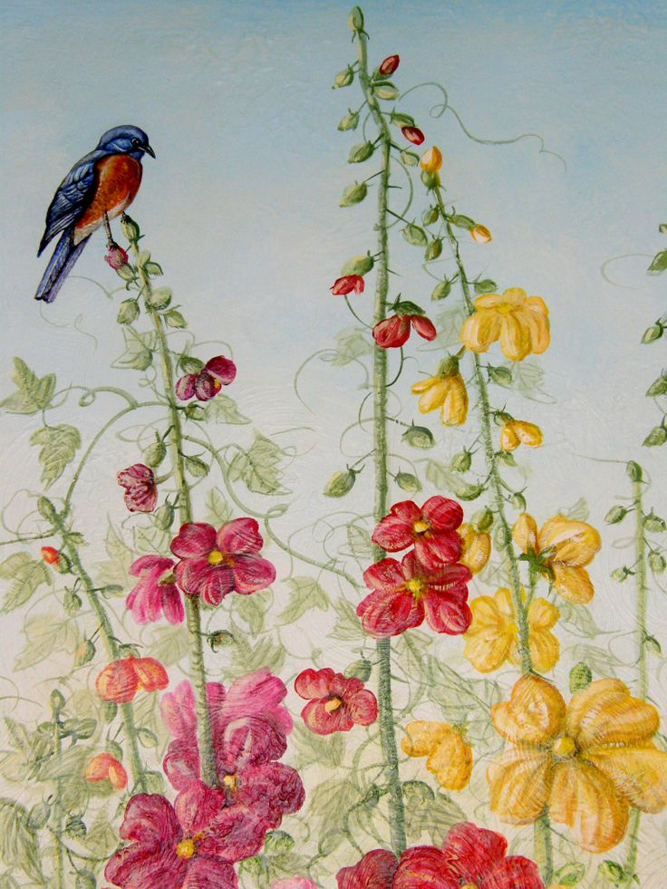 Foyer English Garden Mural Detail Murals Designed And