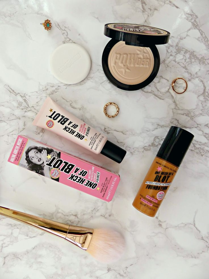 Soap & Glory One Heck of a Blot Primer, Foundation & Powder | Review | Jasmine Talks Beauty