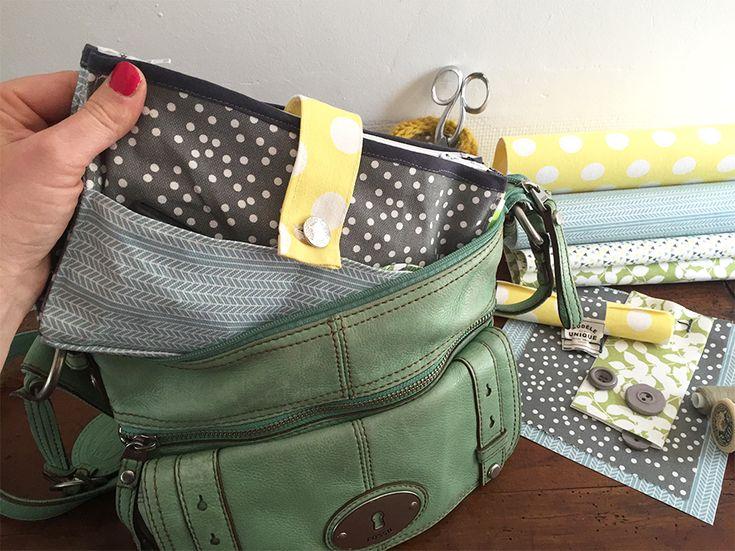 On organise l'intérieur de son sac à main grâce au projet #couturefacile de…
