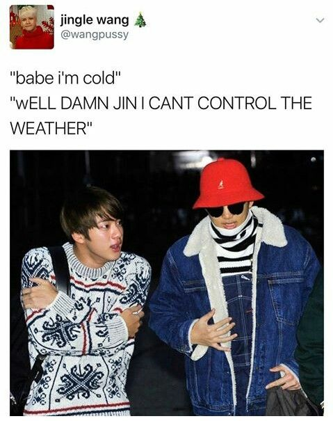 Namjin is sailing like this