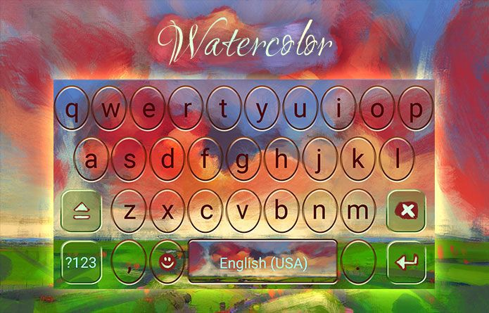 Watercolor Theme: On Android, water can have colors. Get the Watercolor Theme for Redraw :) #android #theme #design #wallpaper #keyboard #technology #gadgets #design #redrawkeyboard #watercolor #paint #artistic