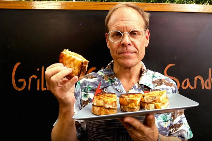 Who better than Alton Brown to show us how to make the ultimate grilled cheese sandwich that's made with, well, grilled cheese.