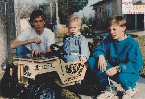 Bro love. Paul, Caleb and toddler Cody Paul Walker