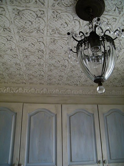 Tin Ceiling Wallpaper Cheaper Than The Real Stuff Diy