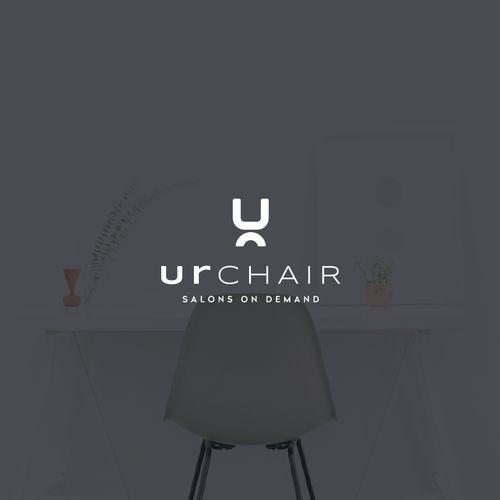 classy chair logo design. Minimal typography based logo design by shaka88 for UrChair  a hair salon studio 21 best Minimalist Graphic Design images on Pinterest