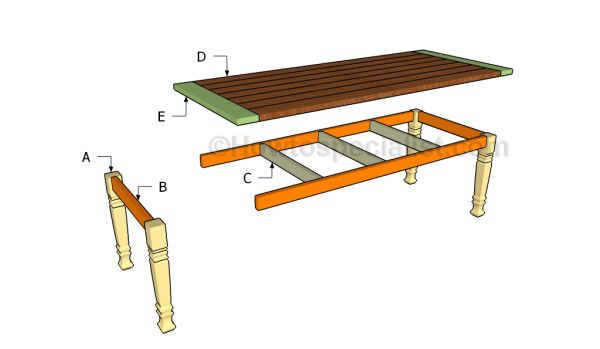 Building a dining table free table plans pinterest for Dining table construction
