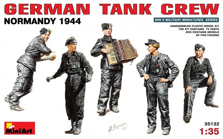 Set de figurines GERMAN TANK CREW (Normandy 1944) – MINIART 35132