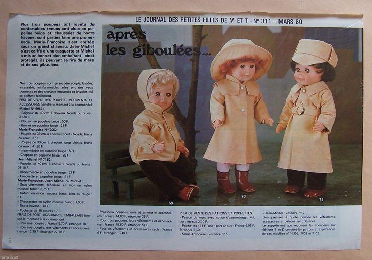 page poupées MODES ET TRAVAUX 03/1980 Marie Françoise, Jean Michel, Michel | Loisirs créatifs, Couture et tissus, Couture | eBay!