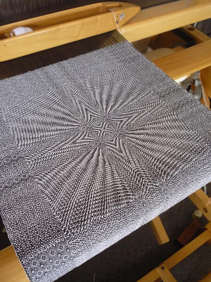 Dianne's Loom Talk I can't stop staring at this! It really draws you in! #weaving