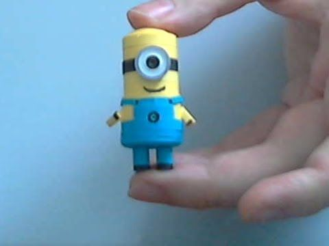 How to make 3D Quilling Minion part 2 - YouTube