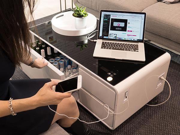 Sobro Smart Coffee Table Has Built In Fridge Usb Bluetooth