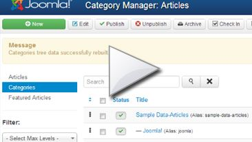 In this VIDEO tutorial I will learn you how to erase  articles, menus, categories and modules.  Here you will see that I erase all sample data that we have installed on the previous lesson but remember, if you don't need to have some sample data on your website, you can install it without any initial data.