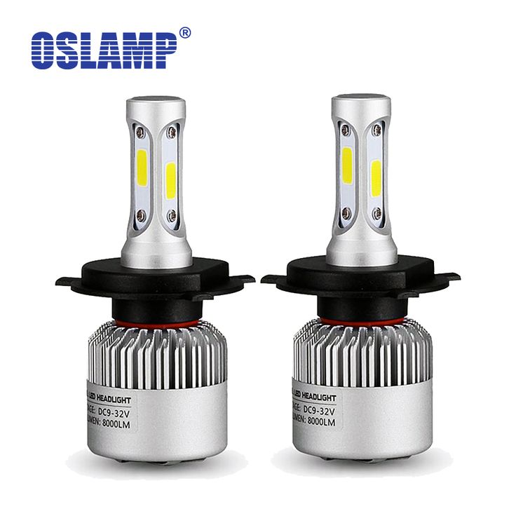 Oslamp Hi-Lo Beam COB Chips H4 Plug 6500K 2pcs LED Car Headlight Kits 2WD 4WD Led Auto Head Lamp SUV LED Bulbs with Bulit-in Fan