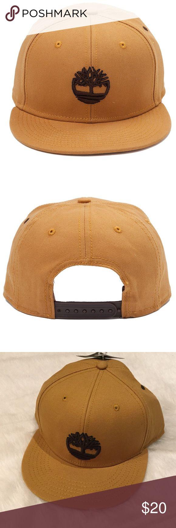 "NWT Timberland Raised Logo Snapback Raised logo embroidery at front, flat brim.  Adjustable snapback closure.  Sweatband at reverse.2 7/8"" brim.  100% cotton.  Color:  Wheat. Timberland Accessories Hats"