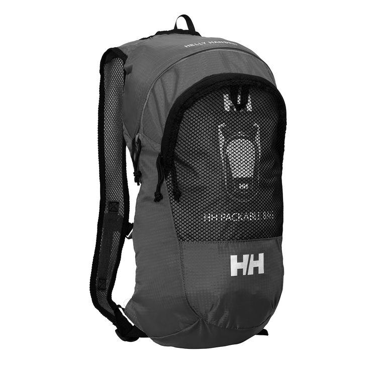 Helly Hansen Packable hátizsák ebony színben. Kis méretű, ultra könnyű (226g. !!!) hátizsák, amit pénztárca méretűre csomagolhatunk ha nincs rá szükség!