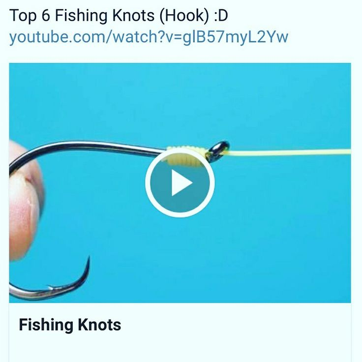Top 6 Fishing Knots (Hook) :D https://m.youtube.com/watch?v=glB57myL2Yw #fishing #fishingaccessories #fishingtools   https://www.reelfishingadventures.com/
