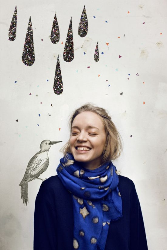 Becksöndergaard scarves designed by Danish duo Anna Søndergaard and Lis Beck