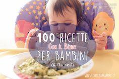 Mega raccolta di ricette Bimby per bambini. Sono 100 ricette adatte fin dai primissimi giorni di svezzamento, comprendono tantissimi tipi di pappe, creme, merende, dolcetti, primi e secondi per bambini!