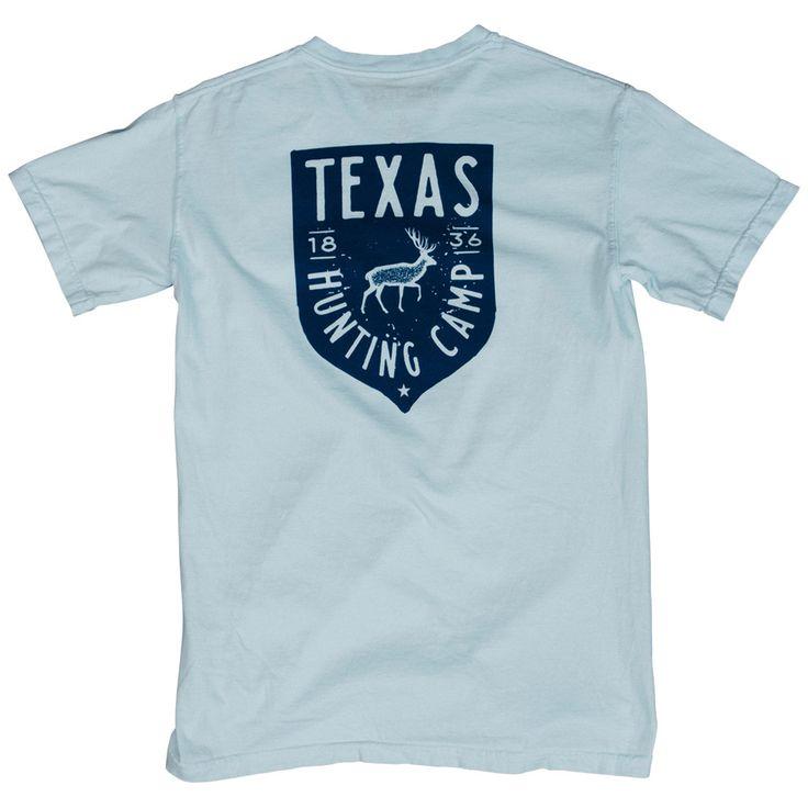 Texas Hunting Camp Pocket T-Shirt - Chambray