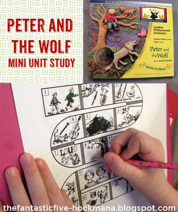 Peter and the Wolf Mini Unit Study