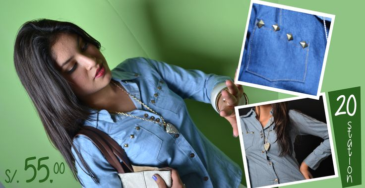 Blusa jeans  tallas S y M