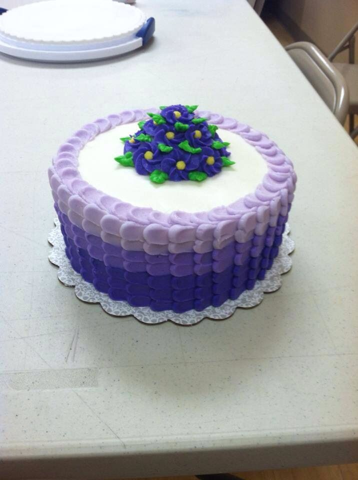 Wilton Buttercream Cake Decorating Ideas : Wilton Course 1 Final Cake Ombre Cakes Pinterest Cake