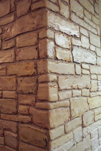 Stencil Plaster Stacked Stone Stencil wall von ElegantStencils