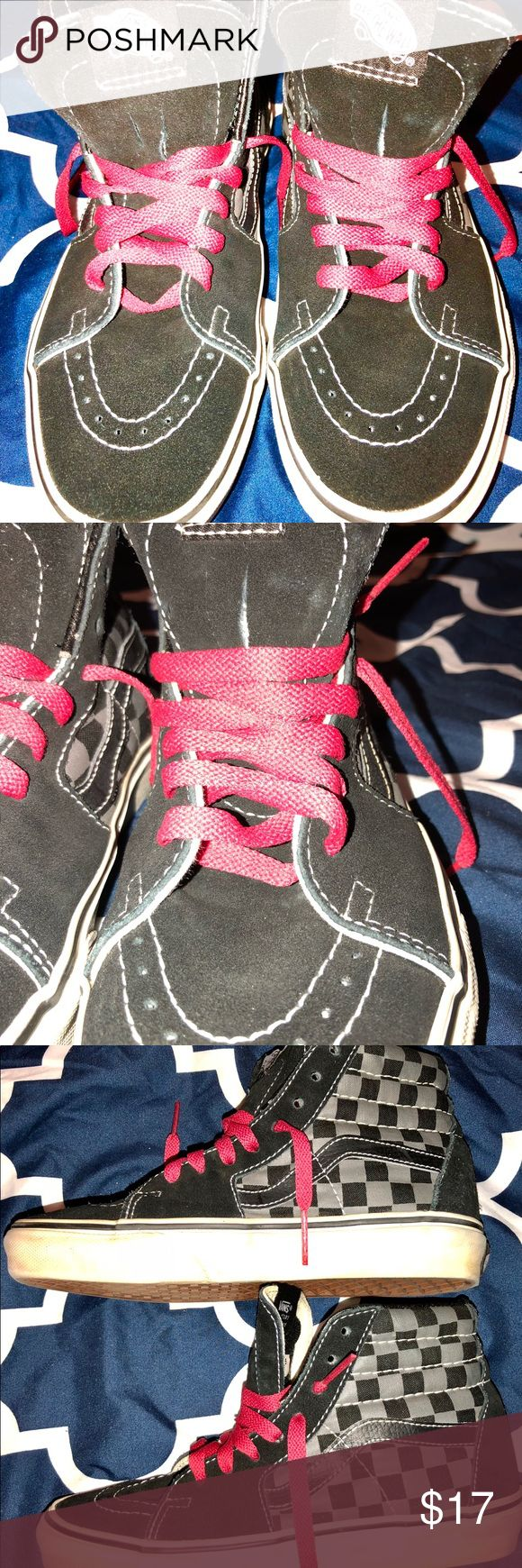 Vans high tops Vans high tops.  Gently used.  Shows minimal wear.  Men's size 4.5 or a woman's size 6. Vans Shoes Sneakers