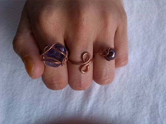 Anillos de cobre juego de 3 anillos. Cobre por BoxOfAccessories