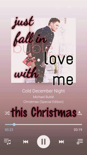 """""""Cause I'm older now but not done hoping..."""" ❤ #ColdDecemberNight #MichaelBublé #Christmas(specialedition) #lovesong #Christmas"""