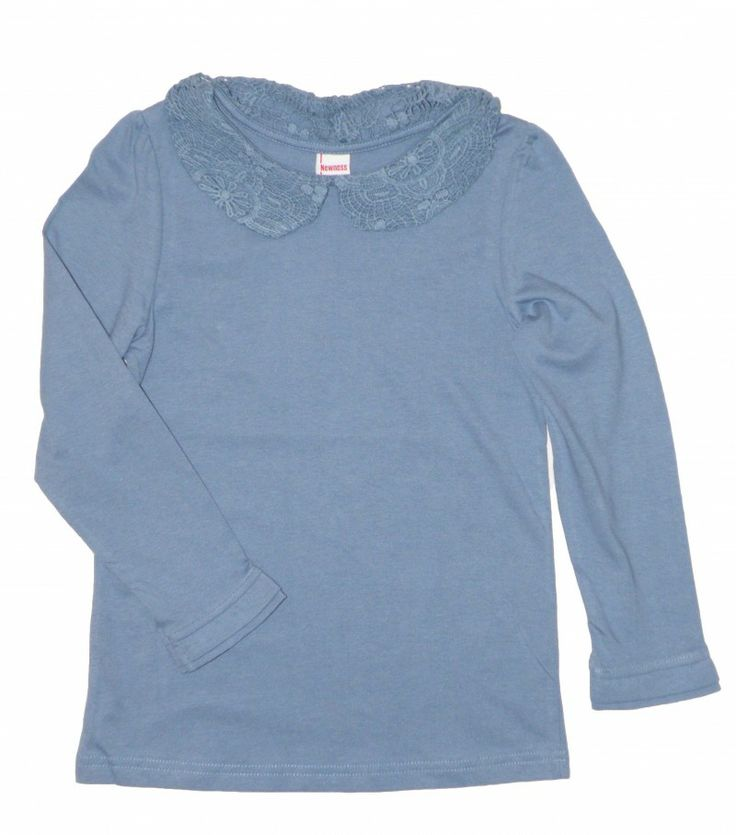 Camiseta puntilla azul (8 a 14 años) - Regalizzes.com