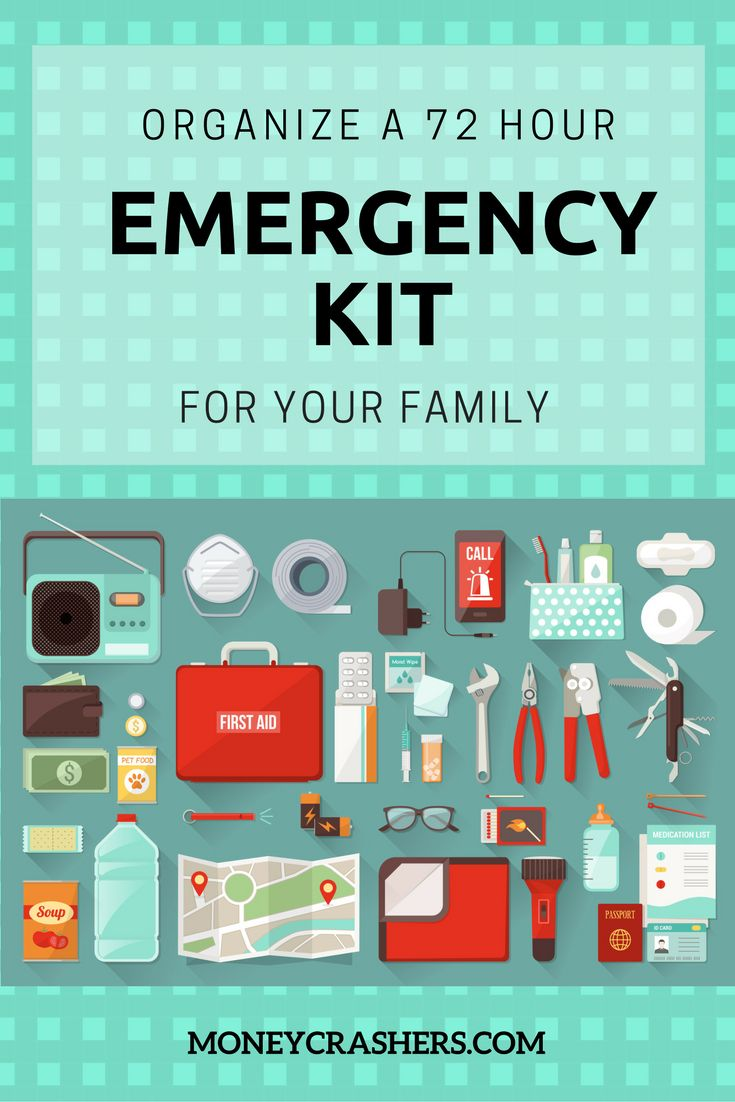 Every year, thousands of people have to evacuate their homes with only a few minutes' notice due tonatural disasterslike wildfires, floods, and tornadoes, and other emergencies. A 72-hour kit is a supplement to your family's preparedness planning, in addition tolong-term food storageand an evacuation plan. But what needs to go into this kit, and how can you save money putting it all together?