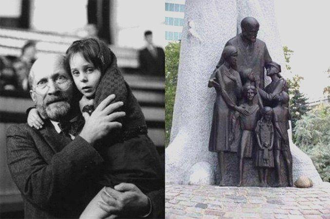 """""""Не все люди мерзавцы!"""" — сказал нацистам человек, вошедший в газовую камеру вместе с детьми.    Януш Корчак. Польский педагог, писатель и врач. Он отказался спасти свою жизнь трижды.  В первый раз это произошло, когда Януш принял решение не эмигрировать перед оккупацией Польши, чтобы не оставлять «Дом сирот» на произвол судьбы накануне войны с нацистами.  Во второй раз — когда отказался бежать из варшавского гетто.  А в третий — когда все обитатели «Дома сирот» уже поднялись в вагон поезда…"""