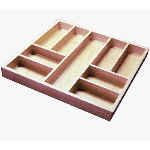 Hafele Cutlery Trays, Beech Wood, 20-1/2 inch W x 19-1/2 inch D x 2 inch H