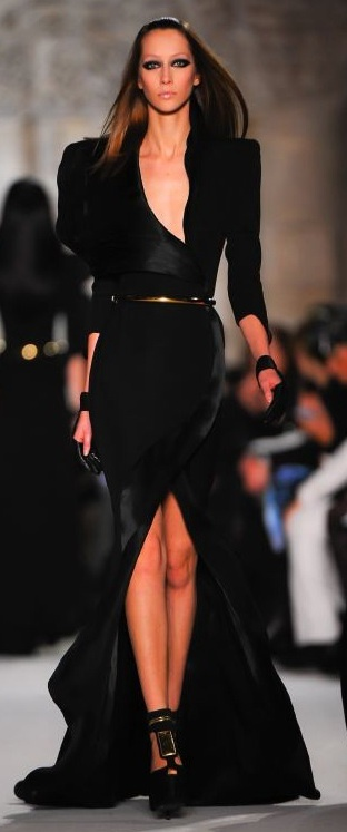 black done runway style