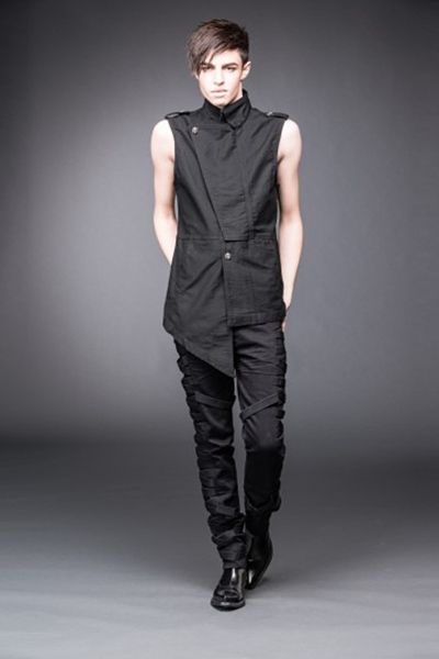 Gothic Sushi Cheff, We're liking this sharp, asymmetric cut vest from Queen of Darkness a lot!