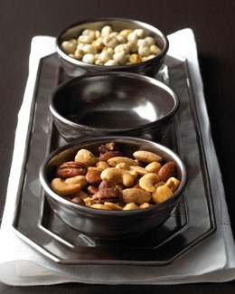 Juliska Pewter Stoneware Tray with Bowls