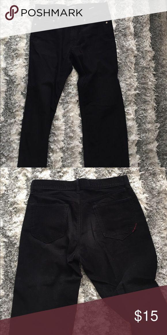 Cord pants straight fit Black corduroy pants. Straight fit. 32x32 Banana Republic Pants Corduroy