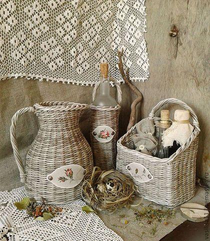 Кухня ручной работы. Ярмарка Мастеров - ручная работа Плетеный набор Домик в деревне. Handmade.