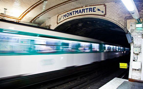 Photo d'une station de métro à Paris