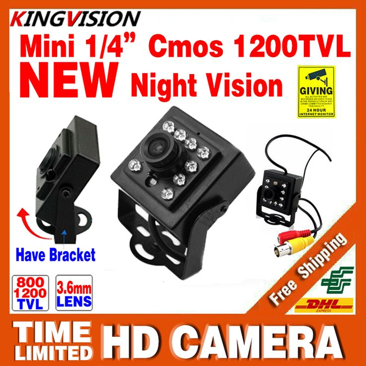 $43.00 (Buy here: https://alitems.com/g/1e8d114494ebda23ff8b16525dc3e8/?i=5&ulp=https%3A%2F%2Fwww.aliexpress.com%2Fitem%2FNew-Mini-Night-Vision-Camera-Real-1-3CMOS-800-1200TVL-IR-led-15m-HD-CCTV-Security%2F32729015022.html ) 2016New Mini Night Vision Camera 1/3CMOS 1200TVL IR leds HD CCTV Security Surveillance Metal Bracket Indoor Color Analog Video for just $43.00