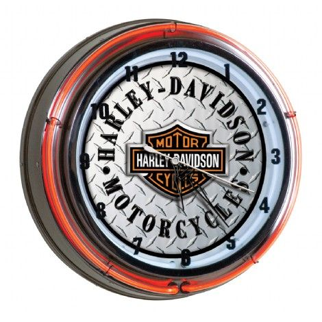 Horloge harley davidson n on int rieur blanc et ext rieur for Eclairage neon interieur