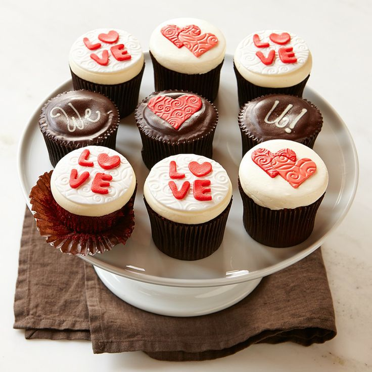 Personalized Valentine's Day Cupcakes