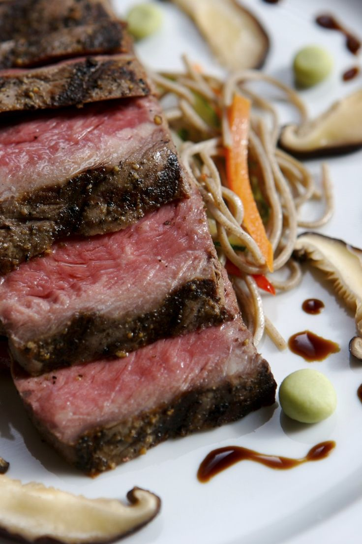Recipe: Green Tea Baked Kobe Beef Ribs With Ginger-Plum Barbecue Sauce