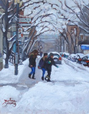 Darlene Young a Painting a Day: 1017 McGill Ghetto, Milton, 8x10, oil on board